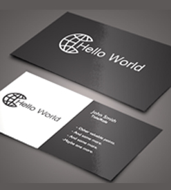Glossy Visiting Card Double side